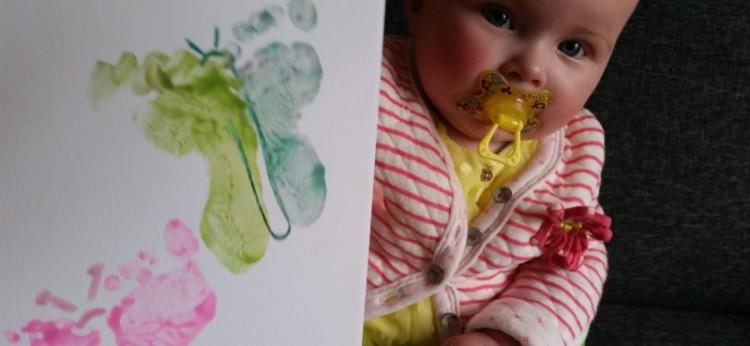 Vaderdag Tip Voetjes Vlinders Op Canvas Nanny Annelon