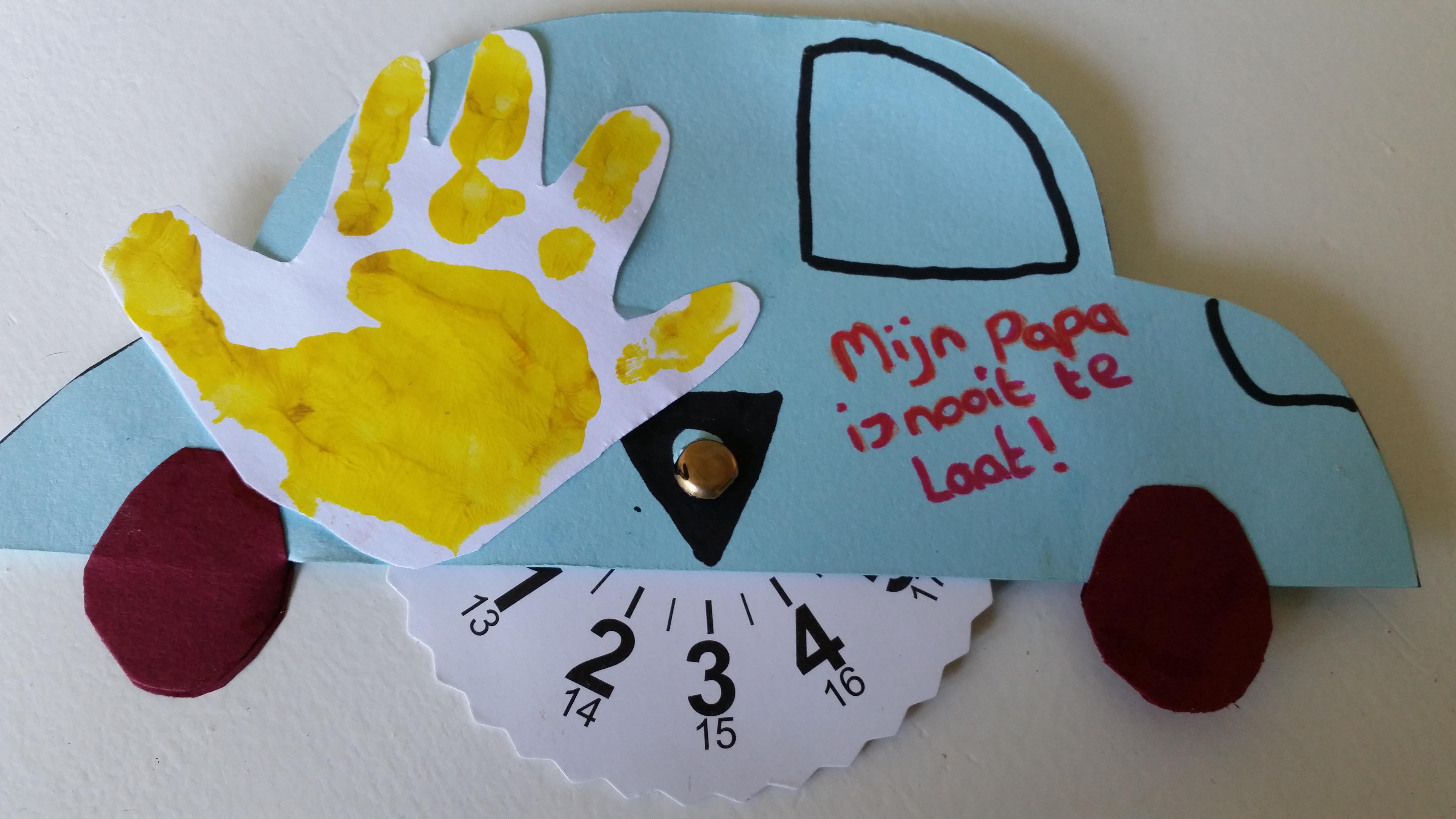 Parkeerschijf Knutselen Voor Vaderdag Nanny Annelon