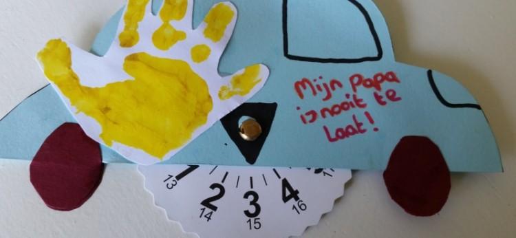 Parkeerschijf Knutselen Voor Vaderdag Nanny Annelon Blog