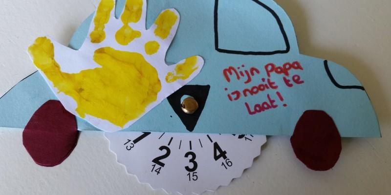 Extreem Parkeerschijf knutselen voor vaderdag – Nanny Annelon &KS95