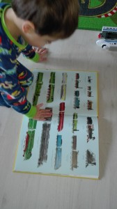 Het grote treinenboek - gek zijn op treinen - door jaren heen - geschiedenis - vrachttreinen - passagier treinen - industriele revolutie - bijzondere illustraties - nanny - Annelon3