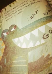 Krokodil - voorlezen - peuter - nanny annelon - review - spannend - grappig - leuk plot - marcs grote gevaarlijke tanden4