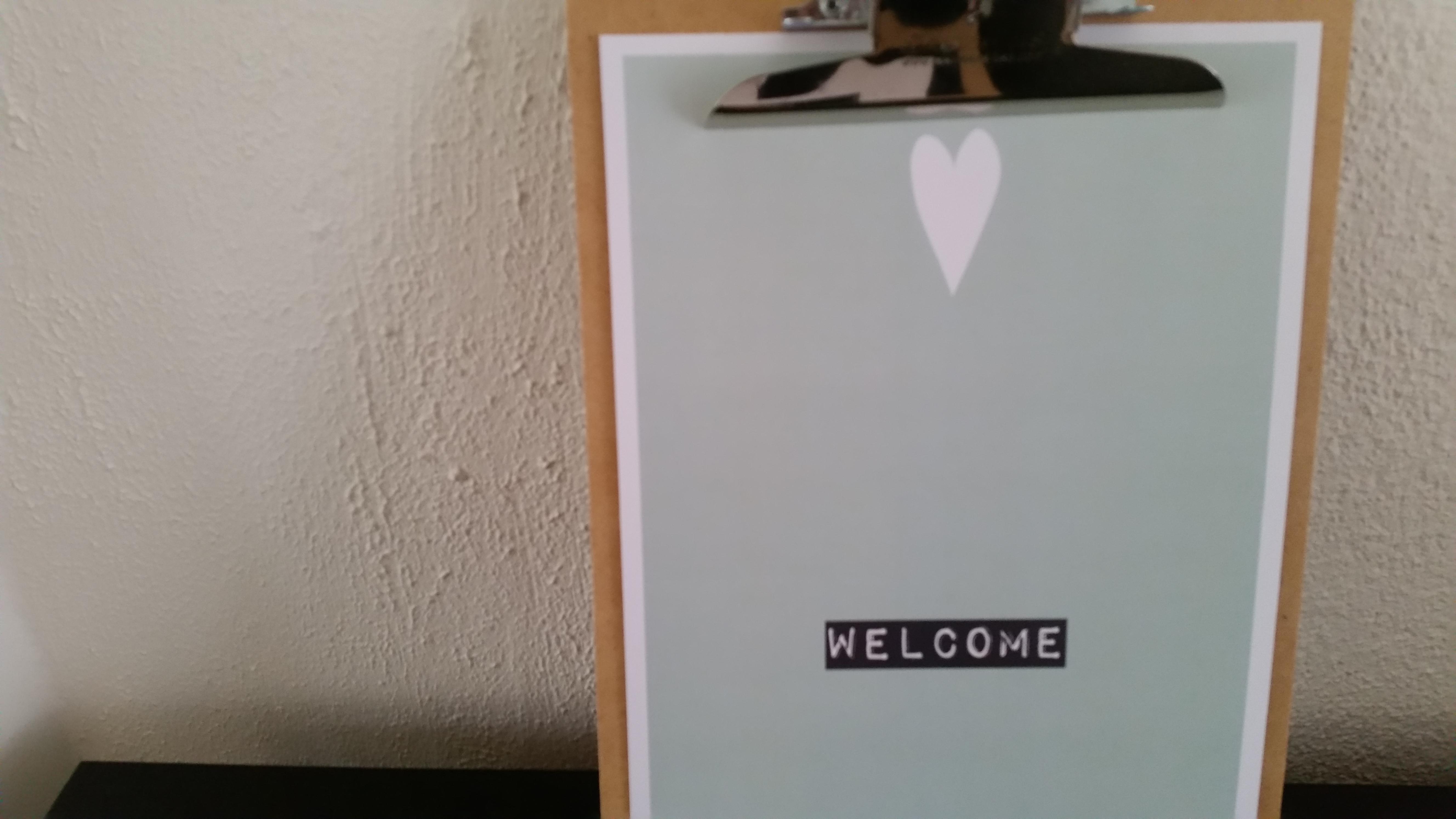 5-16-printcandy-welkom-huis-inrichting-styling-accessoires-naam-initialen-clipboard-clipboards-poster-posters-leuk-huis-gang-mint-zwart-wit-zelf-maken-ontwerpen-nanny-moeder-amsterdam-groot