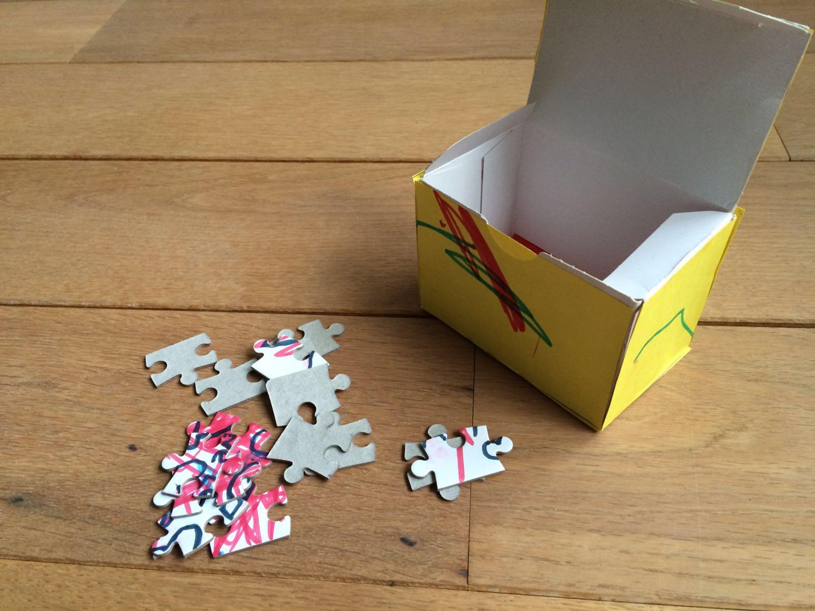 Top Knutselen: Een puzzel in een doosje voor Vaderdag of Moederdag #NO71