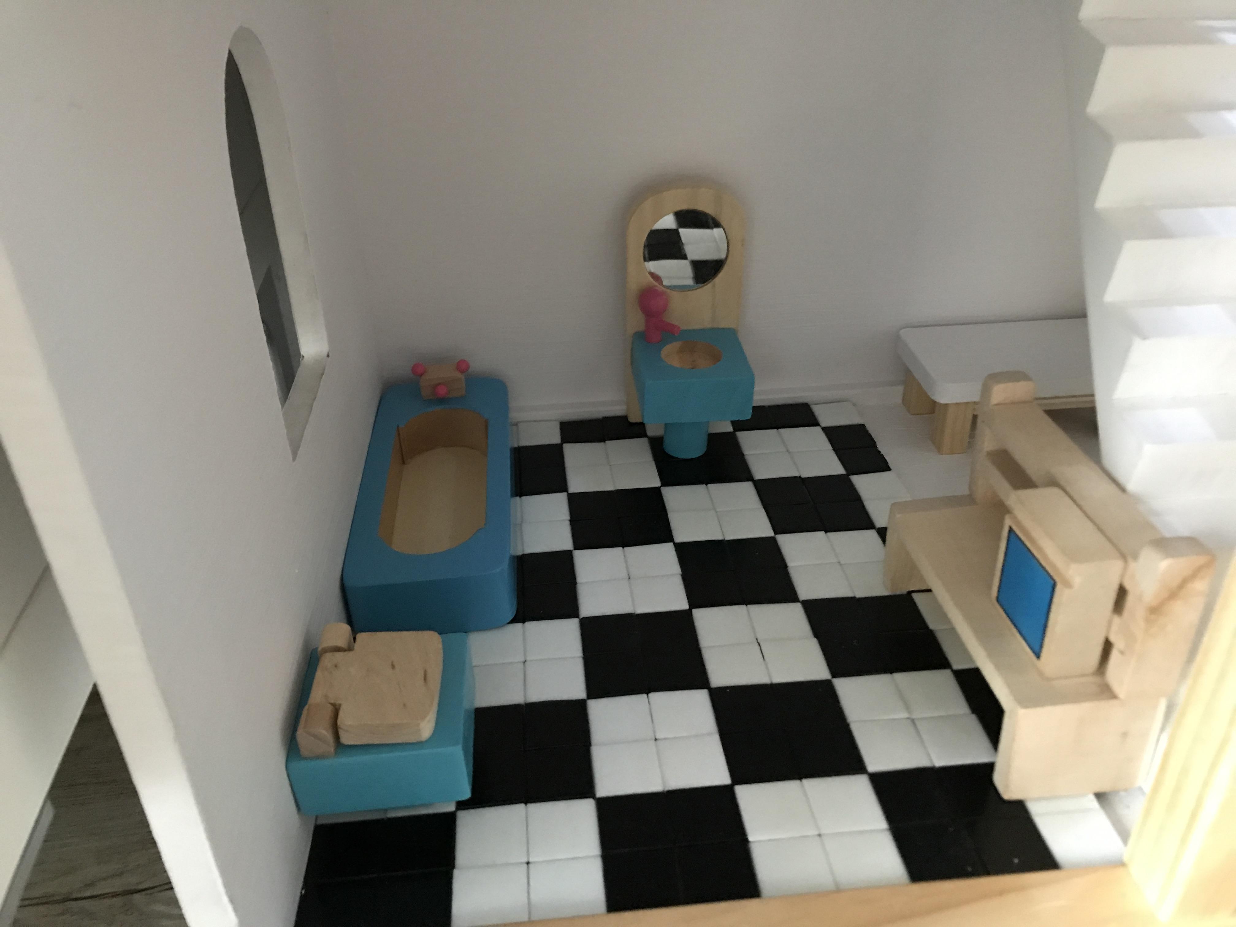 Badkamer Voor Poppenhuis : Diy poppenhuis bouwen u nanny annelon