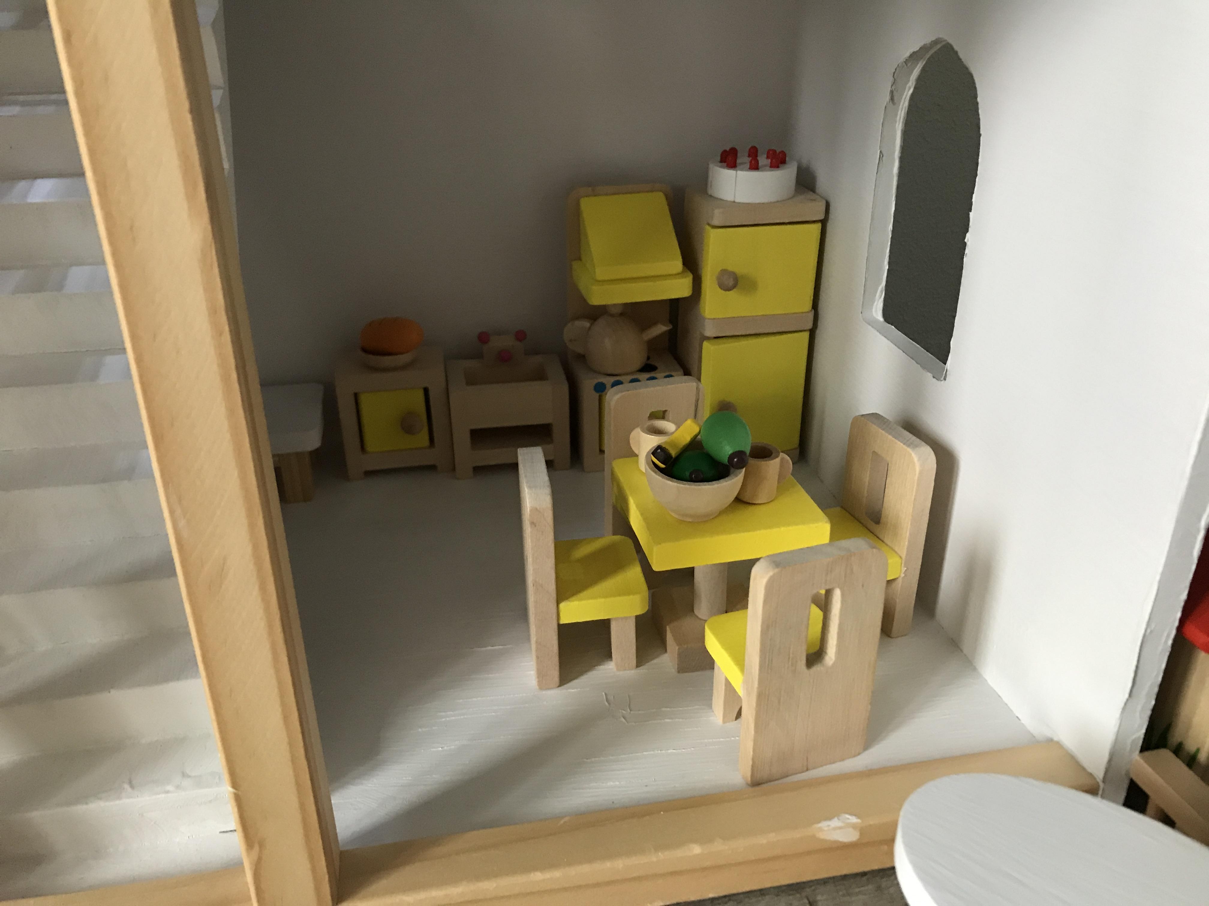 Badkamer Voor Poppenhuis : Woodcraft poppenhuismeubels badkamer euromini s